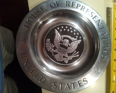 60's House of Rep Pewter ornament