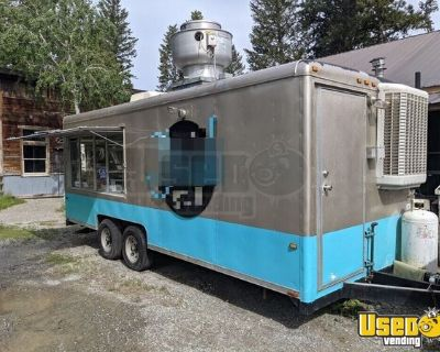 Fully-Loaded Wells Cargo 8' x 20' Kitchen Food Trailer with Pro-Fire