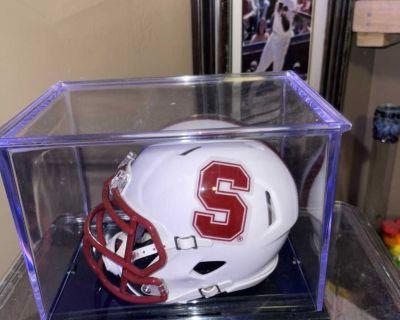 Dalton Shultz autographed Stanford mini helmet