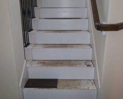 Tile and wood floorig