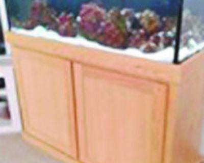 SALTWATER AQUARIUM , 75-Gallon, 6 fish, cabinet & equipment; 18 months old, cost...