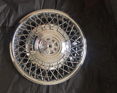 """NOS 15"""" Wire Wheel Hubcap GM #1623577"""