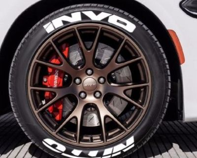 """Nitto Invo - Tire Stickers - 1.5"""" For 18"""" And 20"""" Wheels - (8 Decals)"""