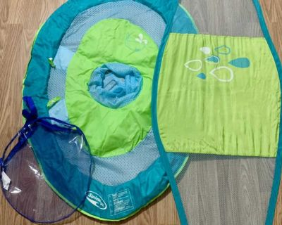 Infant float with shade canopy