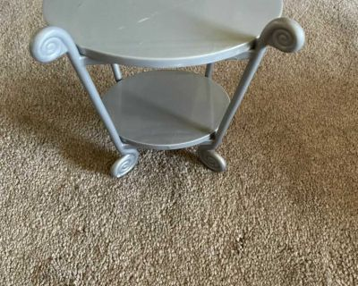 Side table for 18 dolls