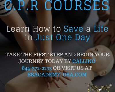 Get CPR certificate in just one day at E&S Academy!