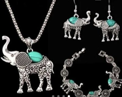 Tibet elephant necklace Bracelet earrings set