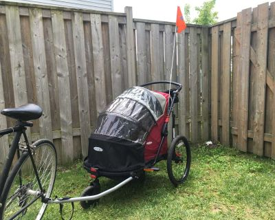 inStep 2 seat bike trailer with stroller attachment