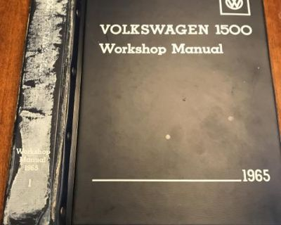 1965 workshop manuals binders only, vol 1 & 2