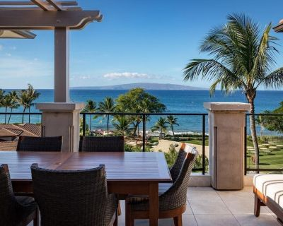 Front Private Lanai, Unobstructed Ocean Views great for sunrise/sunset - Wailea