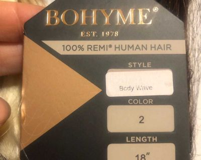 Bohyme Luxe hand tied 18 body wave color 2 hair extensions