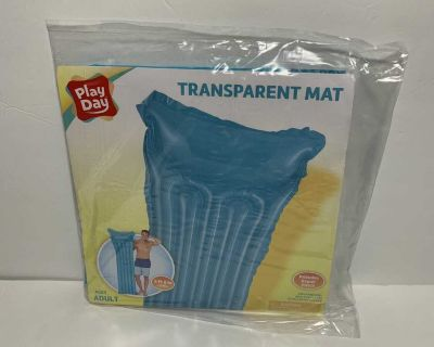 Blue Play Day Inflatable Transparent Air Mat Pool Float