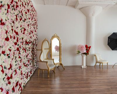 Beautiful Flower loft studio with Large Rose Wall and a Claw foot Bath Tub, framed mirror, wall molding - Art 3, Los Angeles, CA