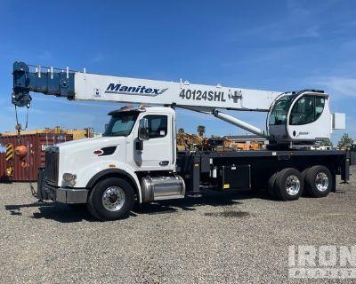 Manitex 40124SHL Straight Boom on 2020 Peterbilt 567 T/A Truck