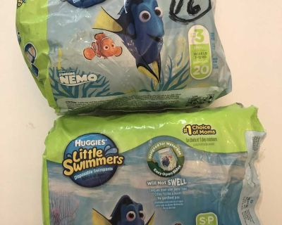 Huggies Little Swimmers Size 3 16-26 lbs 33 In Total