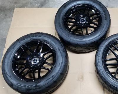 "E550/CLS550/C63 Rear 16"" Drag Pack Wheels/Tires"