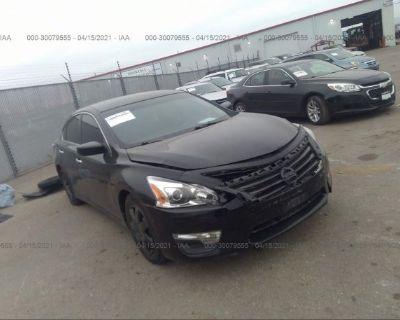 Salvage Black 2015 Nissan Altima