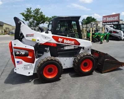 2021 Bobcat S76 SKID STEER LOADER - 0% FINANCING AVAILABLE OR $2300 CASH REBATE -74HP TURBO-CHARGED DIESEL ENGINE (TIER 4) - 179 HOURS - 2 SPEED - HIGH FLOW HYDRAULICS - POWER BOB-TACH MOUNTING SYSTEM - TELEMATICS MACHINE IQ