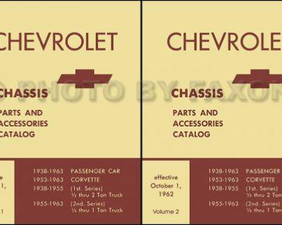 Corvette Mechanical Parts Book 1958 1959 1960 1961 1962 1963 Chevrolet Catalog