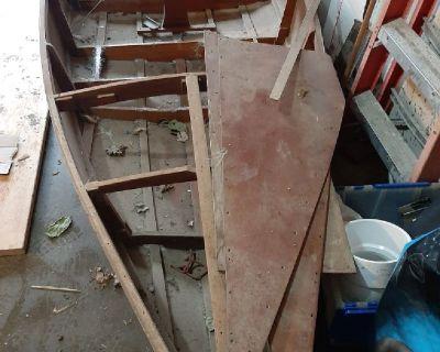 1950's antique speed liner boat