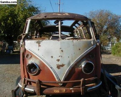 1966 Deluxe 21 Window Bus Project With Title