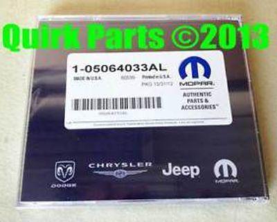 Dodge Jeep Chrysler Navteq Navigation Dvd Oem Mopar Genuine Oem New Factory!