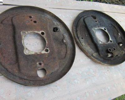 big drum rear axle backing plates