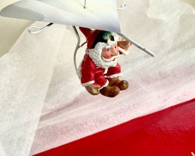 Santa Hang Glider Christmas Ornament