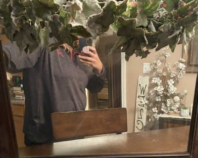 Mirror with greenery, $5.00