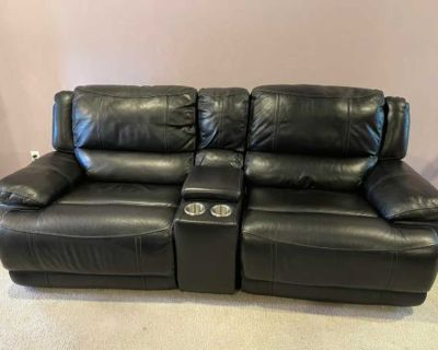 DONATE! Black leather recliners