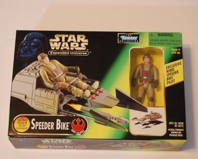 Star Wars Expanded Universe Speeder Bike w/ Rebel Pilot figure