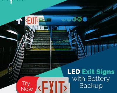 Buy Now LED Exit Signs With Battery Backup