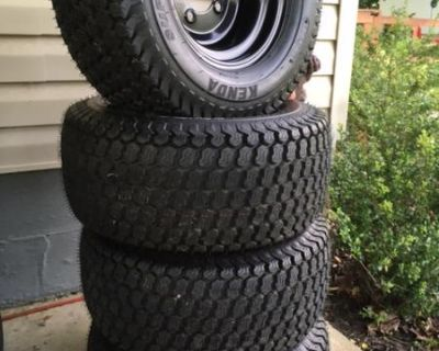New 10 inch cart tires and wheels
