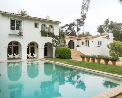 Spanish Villa Mansion with Pool, Rose Gardens, Bocce Court, Sauna in Brentwood, Los Angeles, CA