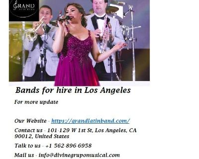 Bands for hire in Los Angeles
