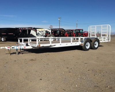 7x22 Utility Trailer, Tractor Hauler, PJ Utility Trailers UL222