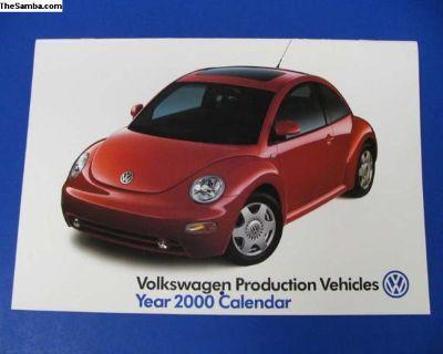 Brand New 2000 Factory VW Calendar
