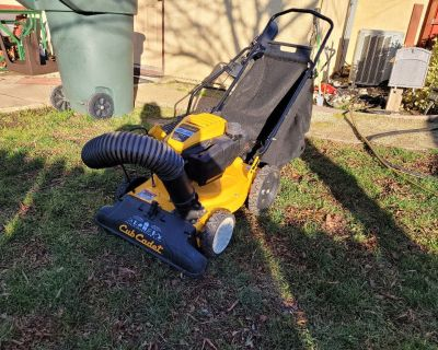 Free Cub Cadet CSV 050 Chipper Shredder Vacuum. Only used one time. Needs carburetor cleaned.  Sat 2