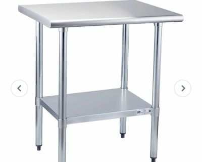 Hally Sinks & Tables H Stainless Steel Table for Prep & Work