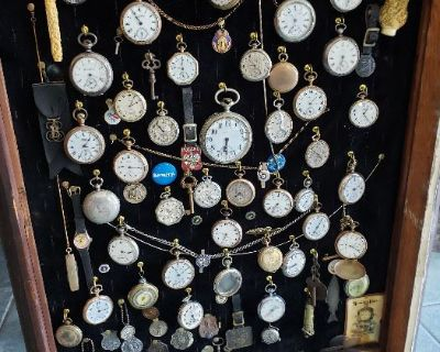 PICKERS EXTRAVAGANZA N. CHELMSFORD ESTATE SALE MAY 28TH ANTIQUES HUGE POCKET WATCH COLLECTION INSANE