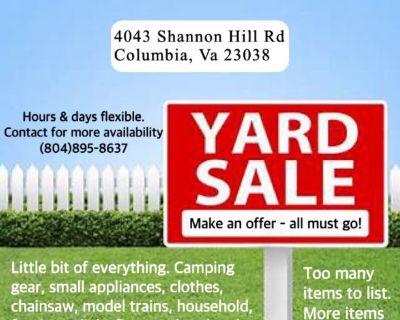 Yard Sale! June 25th-27th -rain or shine-