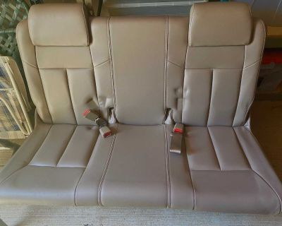 Two 2003 Oldsmobile Silhouette Rear Bench Seats, Beige Leather, Like New