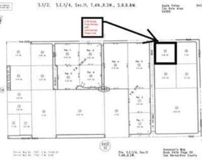 2.06 Acres. Apple Valley, CA 9207