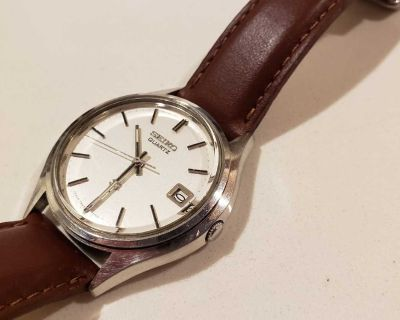 Vintage Seiko - Comes with brown and blue leather straps