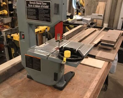 "Delta 8"" 1/2 HP Tabletop Bandsaw + Urethane wheel upgrades + 3 blades $450+ value"