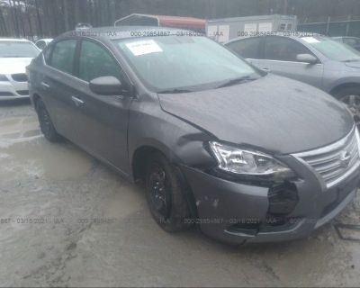 Salvage Gray 2015 Nissan Sentra
