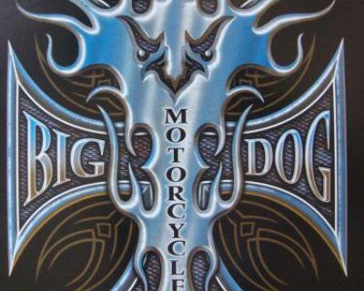 Big Dog Motorcycles Maltese Eagle Shirt 3xl W/ Front & Back Design Short Sleeve