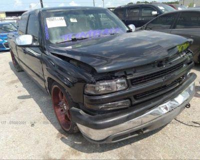 Salvage Black 2000 Chevrolet Silverado 1500