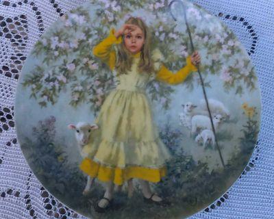 Vintage Collectible Plate Little Bo Peep By John Mc Clelland 1983