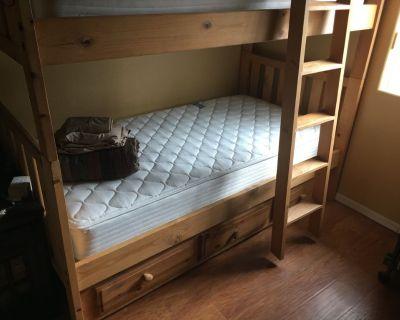 Long Bunk Beds  (wood)